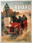 Vintage French car advertisment poster - Bayard automobiles